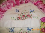 hand embroidered pillowcase set